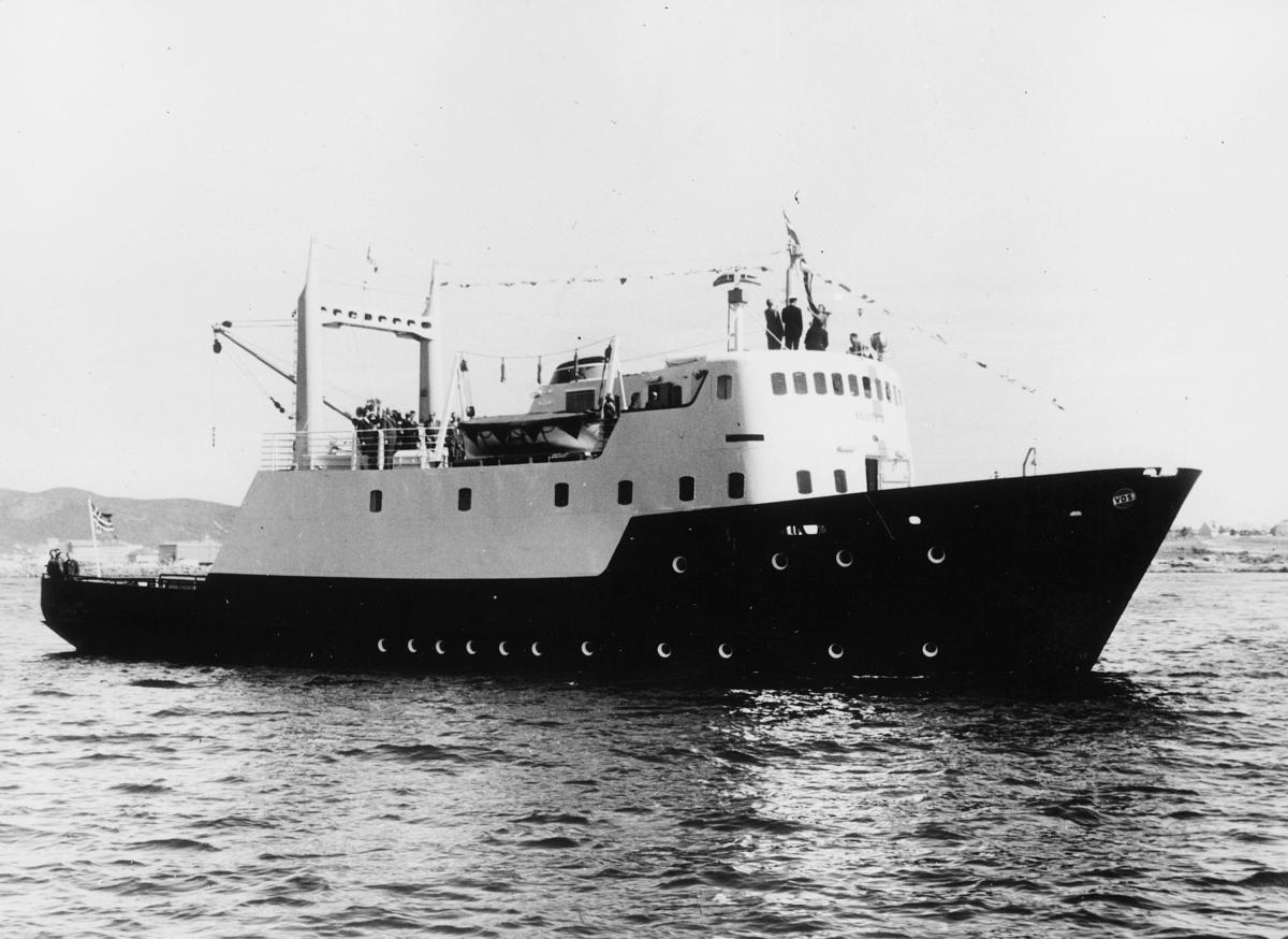 transport båt, eksteriør, B/F Skutvik