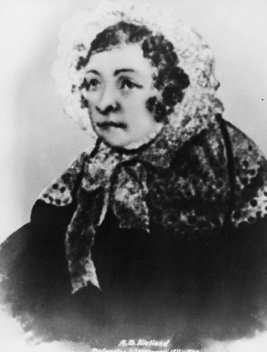 portrett, kvinne, postmester Anna Dorthea Kruse Kielland