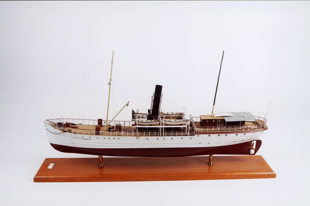 postmuseet, gjenstander, båt, båtmodell, skipsmodell, D/S Excellencen
