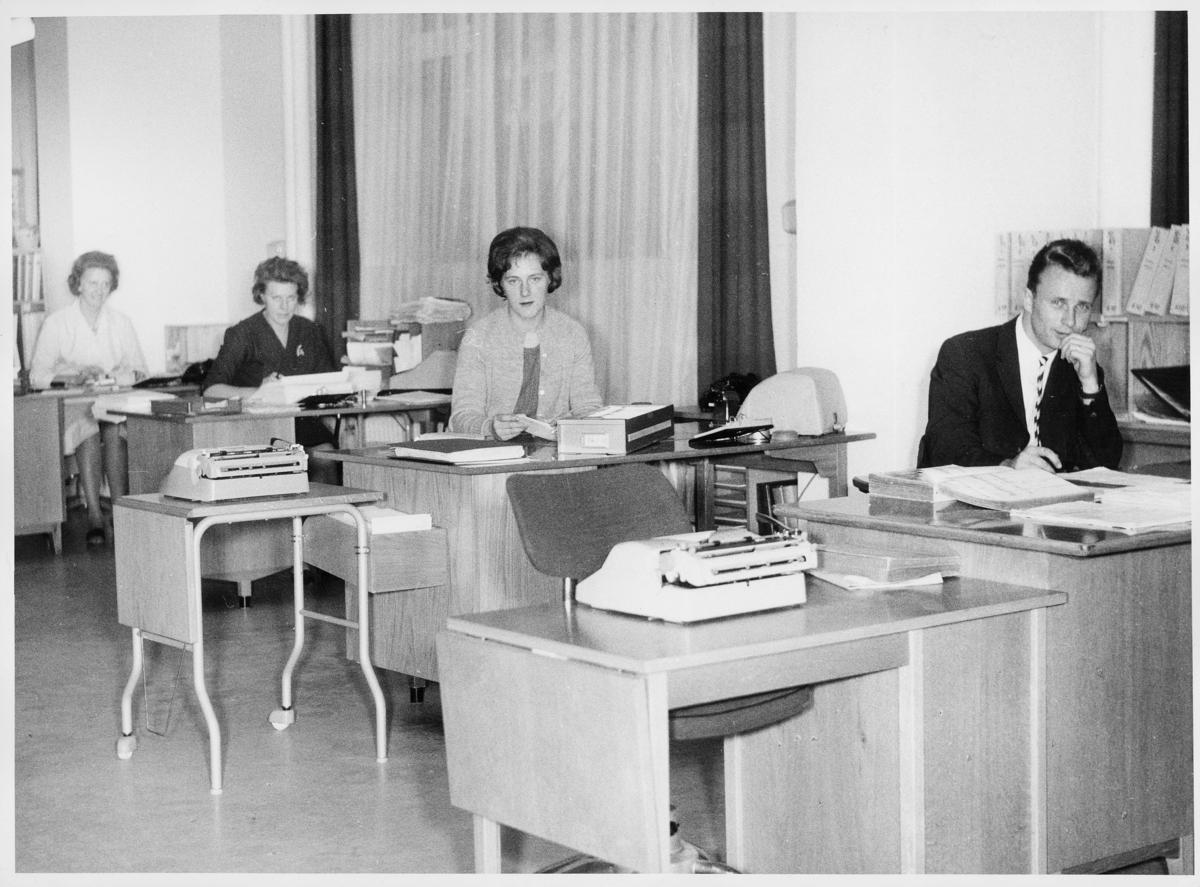 lønnssentralen, interiør, Oslo, Edith Moltubakk, Bjørg Arneberg, Venke Helene Johannessen, Arne Endal