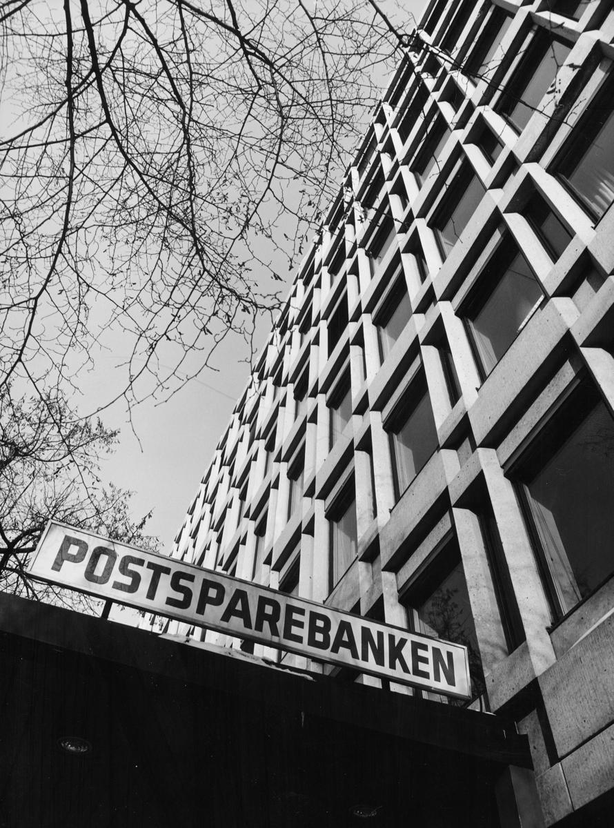 postsparebanken, Postsparebankens hovedkontor, Akersgata 68, Oslo, eksteriør