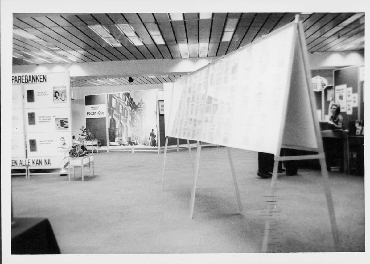 markedsseksjonen, Oslo postgård 50 år, utstilling, postsparebanken, informasjon, filateli