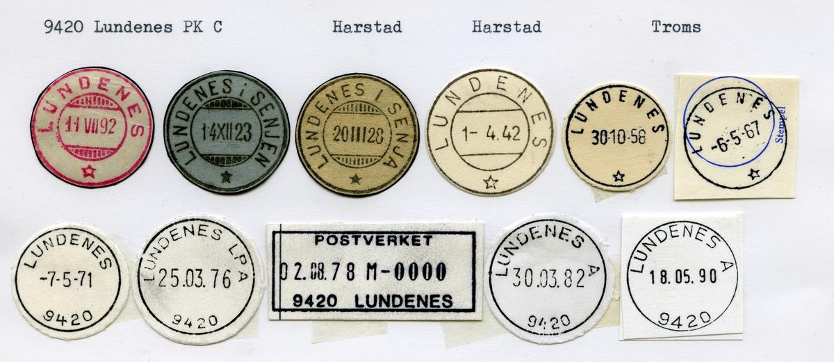 Stempelkatalog, 9420 Lundenes, Harstad, Harstad kommune, Troms