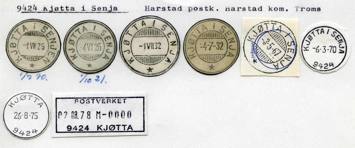 Stempelkatalog 9424 Kjøtta i Senja, Harstad, Harstad kommune, Troms