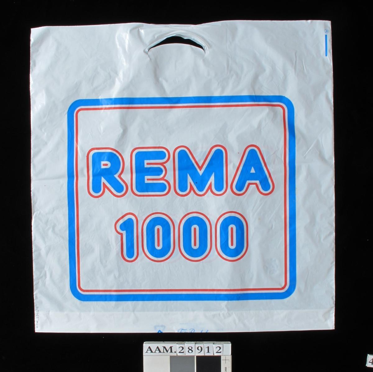 Rema 1000 -kjedens logo i rødt og blått