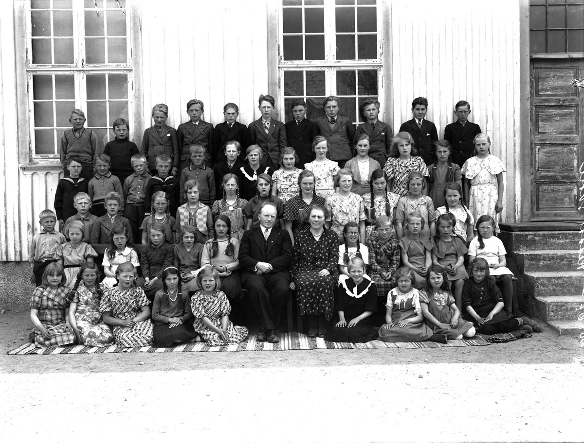 Elevgruppe fra Reddal skole