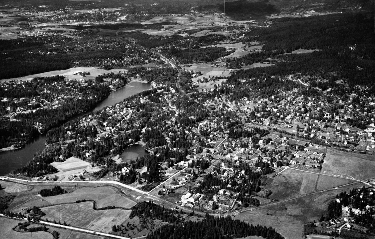 Flyfoto over Lørenskog.