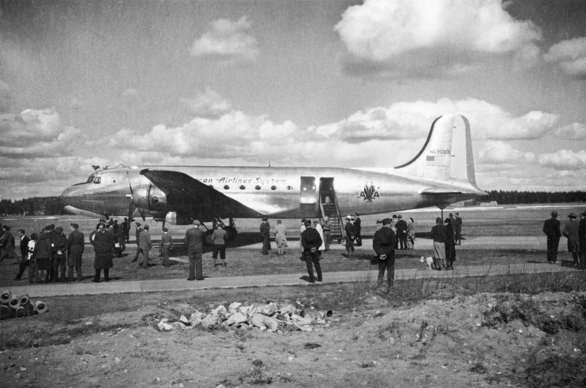 De første transatlanstiske passasjerfly.