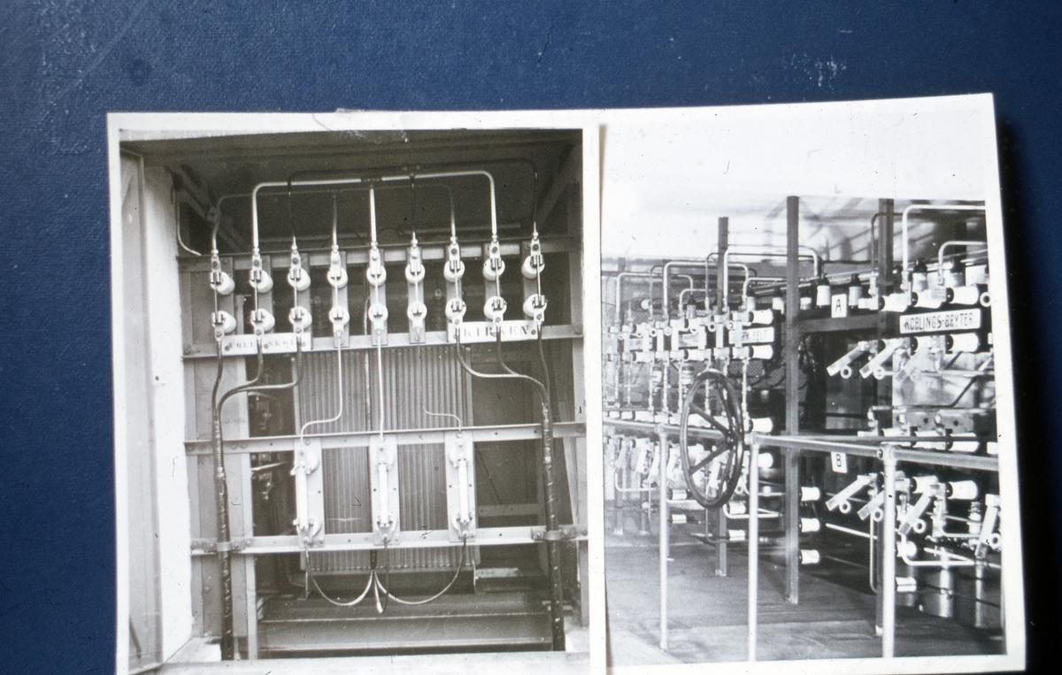 Elektrisk utstyr i kiosk fra 30-årene.