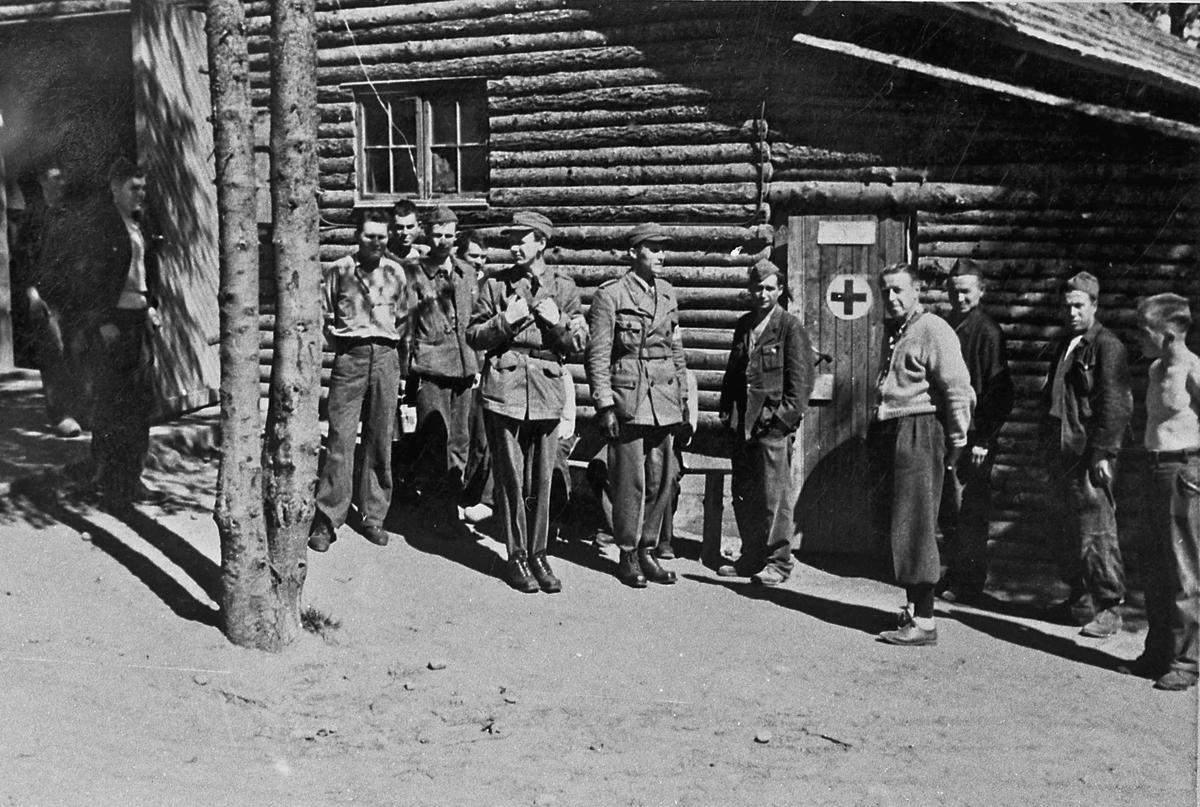 Russiske fanger på Gardermoen,Trandum. Burma leiren.