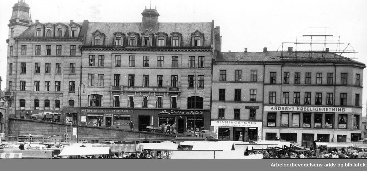 Det gamle Folkets hus, rett før riving,.juli 1954