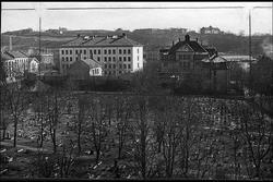 Sofienberg skole sett fra tårnet i Petrus kirken.
