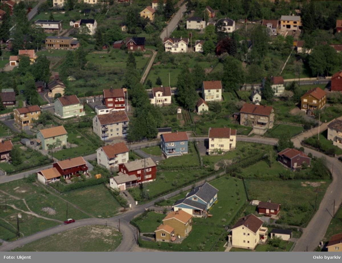 Villabebyggelse på Grefsen. Nordlysveien, Jupiterveien, Kjelsåsveien, Nordhagaveien (Flyfoto)