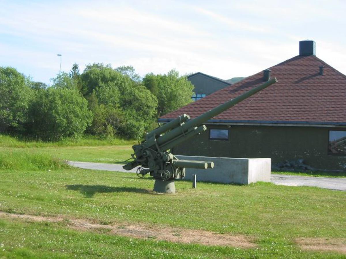 To stk 8,8 cm tysk antiluftskyts fra 2. verdenskrig