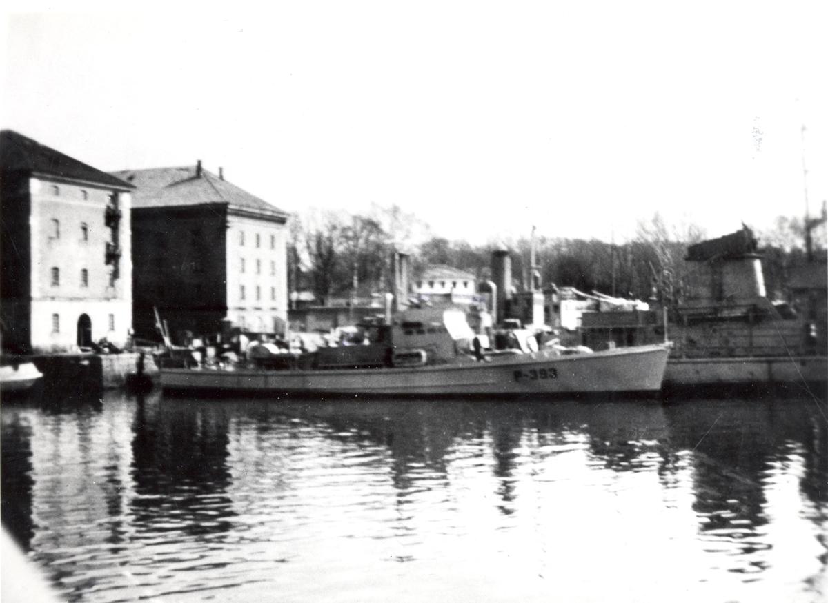 Undervannsbåtjageren Vigra. på besøk i Horten.