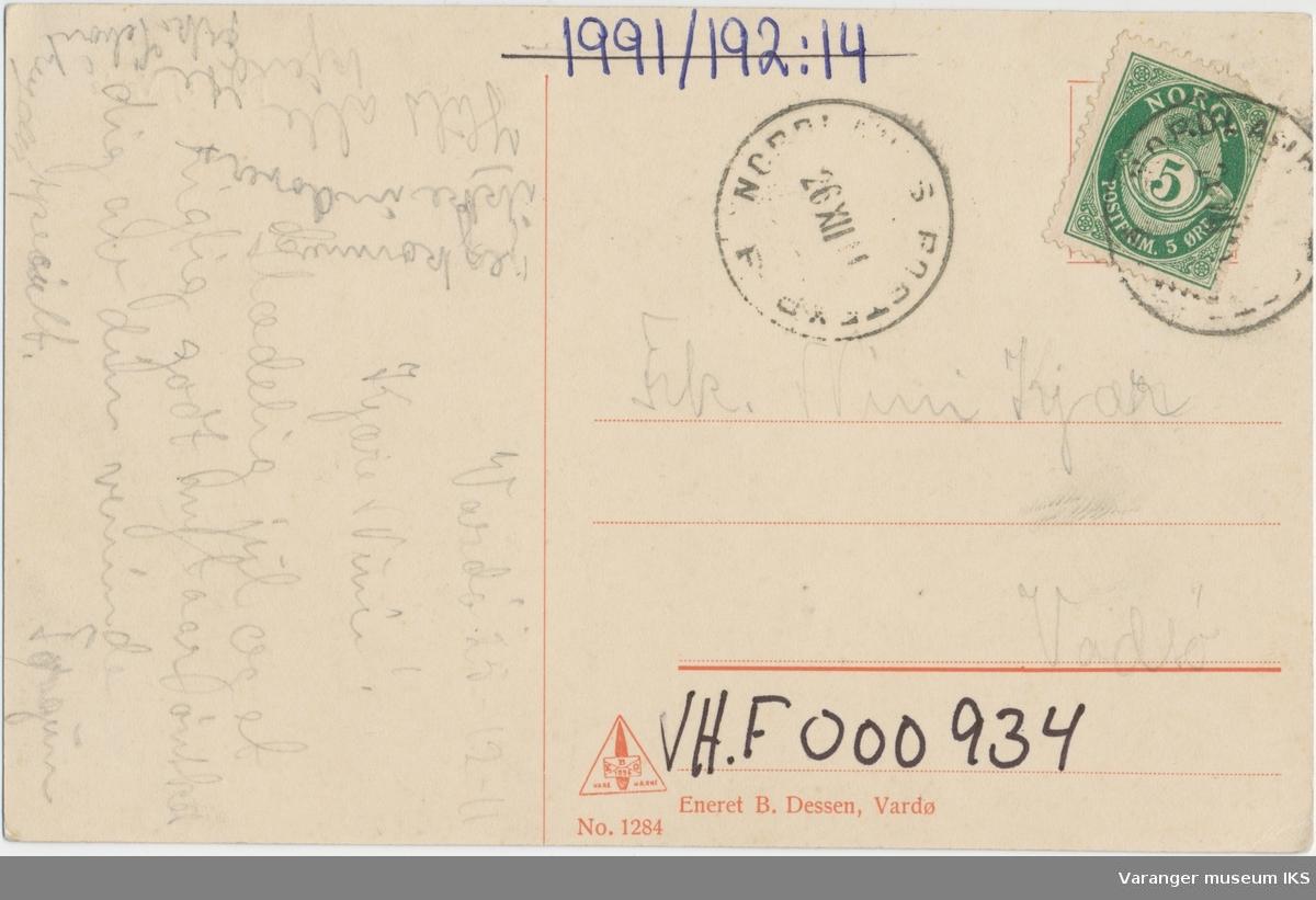 Postkort, Strandgata sett mot sør, ca. 1910