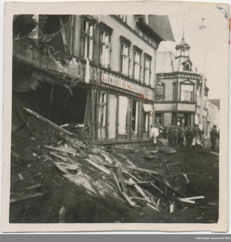 Sjømannshjemmet bombeskadet, ca. 1942