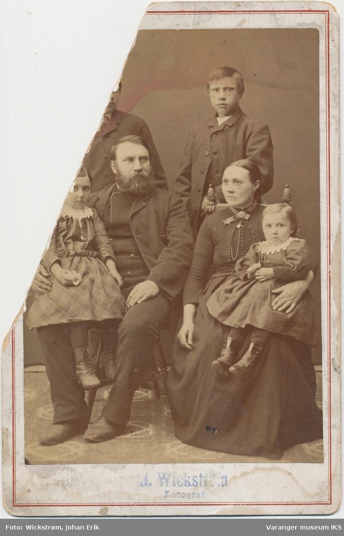 Bernhard Holm med familie