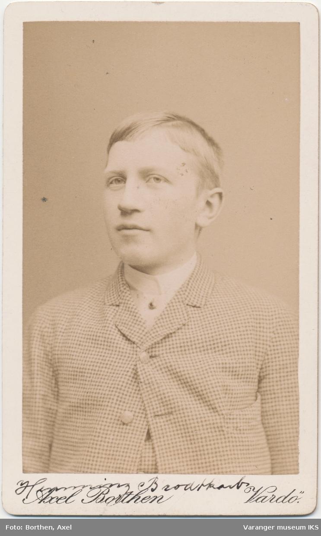 Portrett, Hemming Lauritz Brodtkorb, ca. 1889