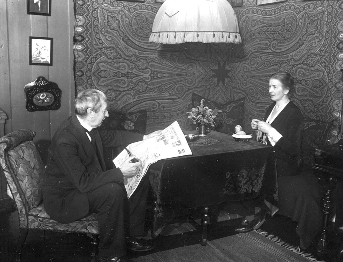 Prost Christian Erichsen og fru Ingrid