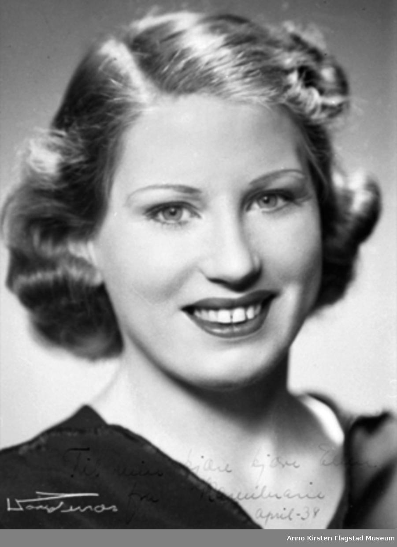 Kirsten Flagstads søster Karen Marie 1938. Kirsten Flagstads sister Karen Marie 1938.