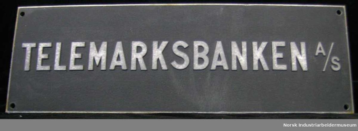 Skilt. Telemarksbanken A/S