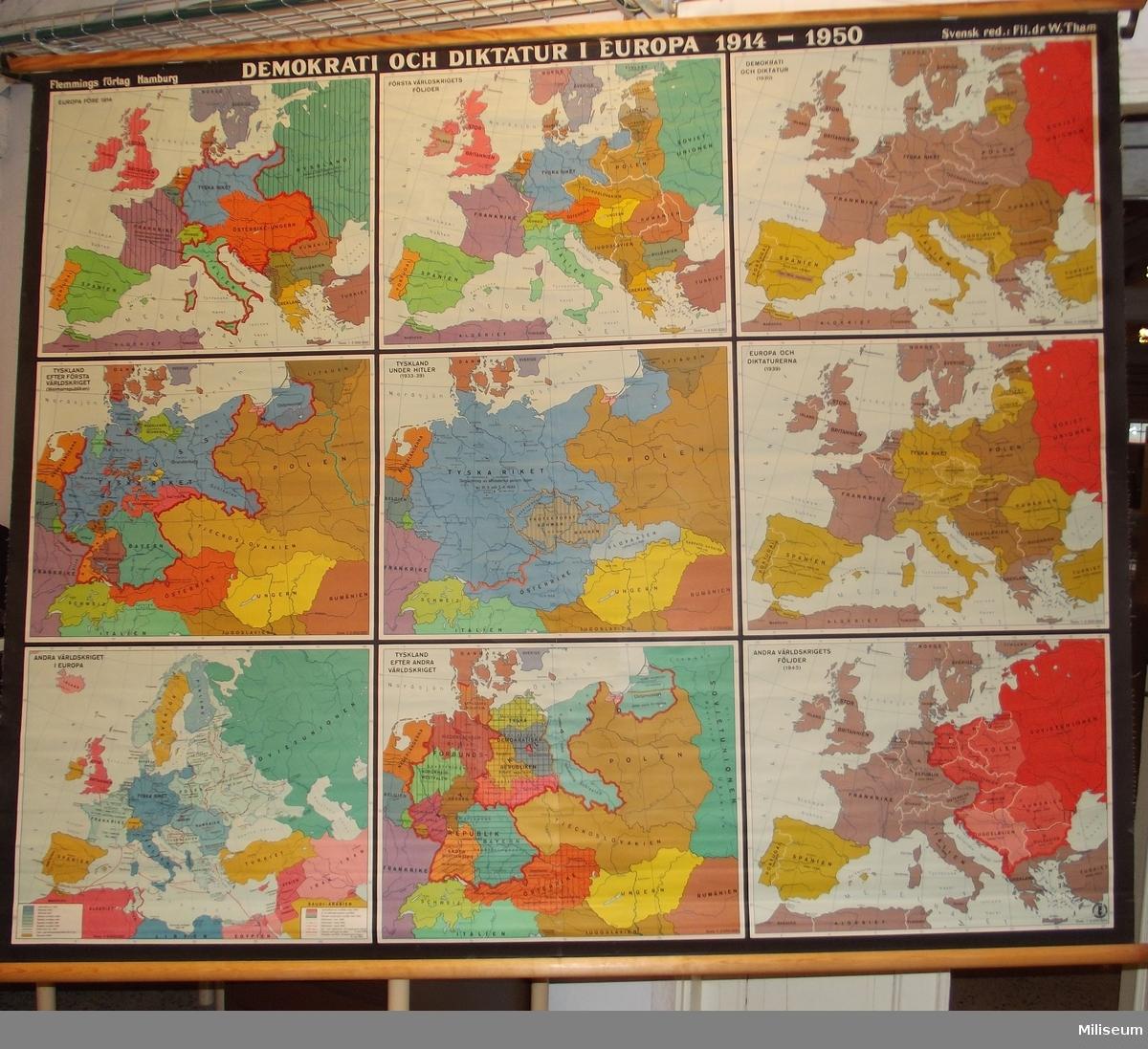 Karta Europa Andra Varldskriget.Karta Miliseum Digitaltmuseum