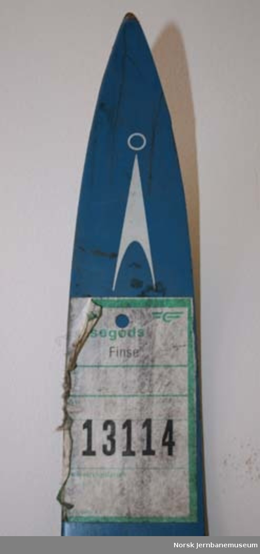 Merkelapp : for ski; påklebet ski