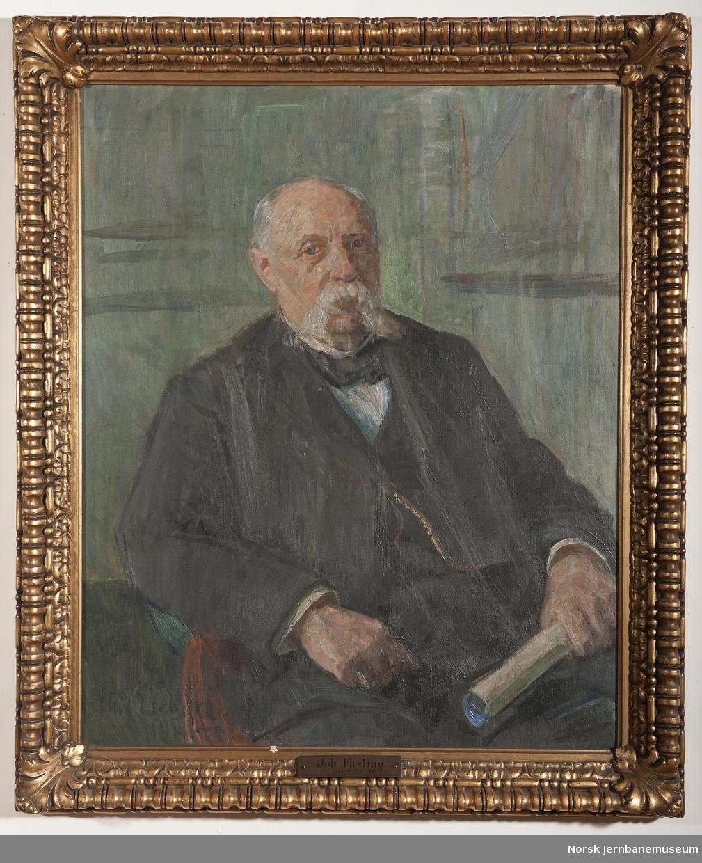 Maleri i ramme av driftsbestyrer Johan Jacob Fasting