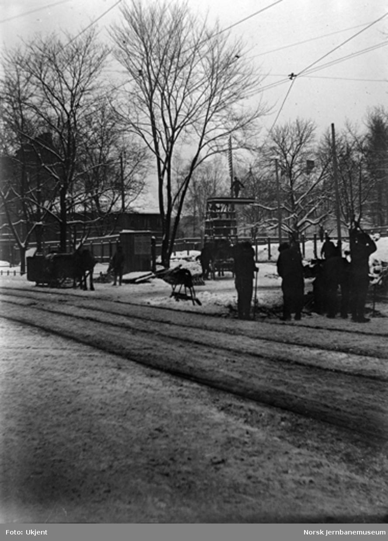 Omlegging av sporveislinjen over St. Hallvards plass