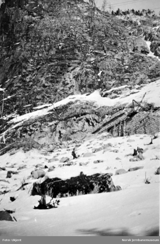 Forstøtningsmur ved søndre innslag til Bergsund tunnel