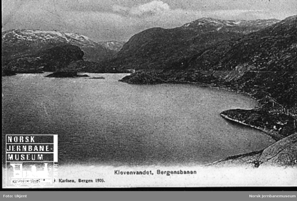 Parti fra Bergensbaneanlegget ved Kleva bru og anleggsvegen