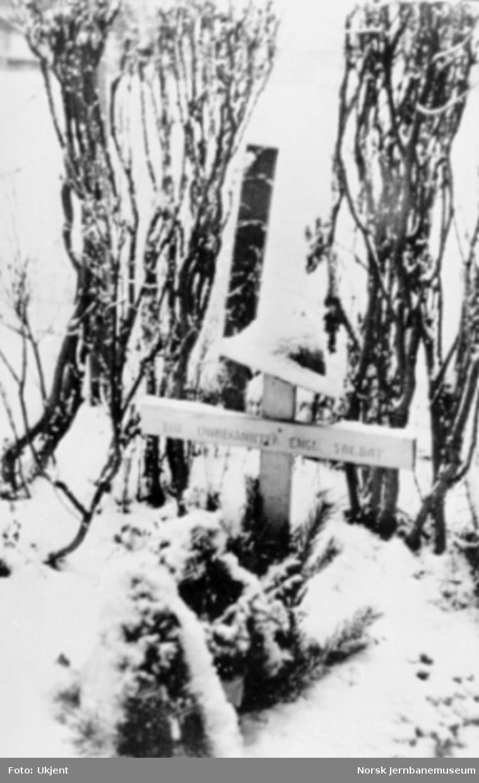 Ukjent engelsk soldats grav i Gudbrandsdalen
