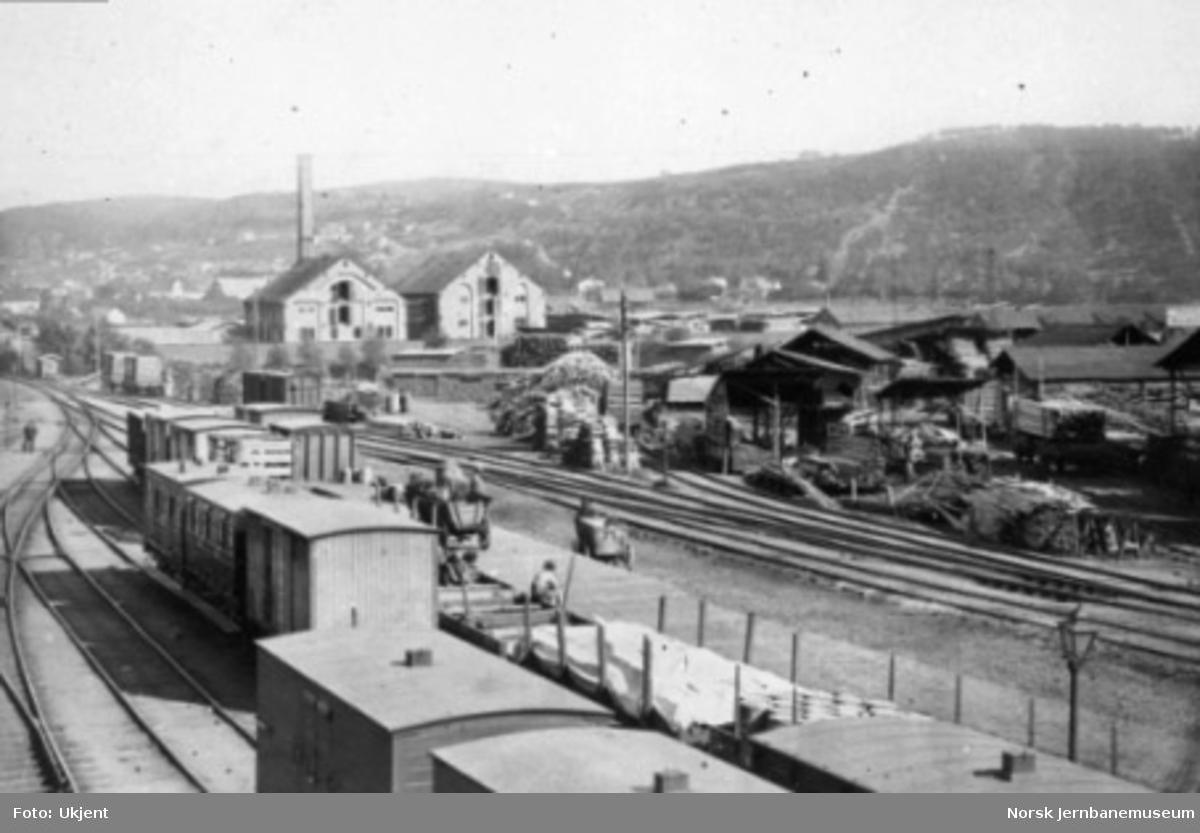 Oversiktsbilde fra tomtene på Østbanen
