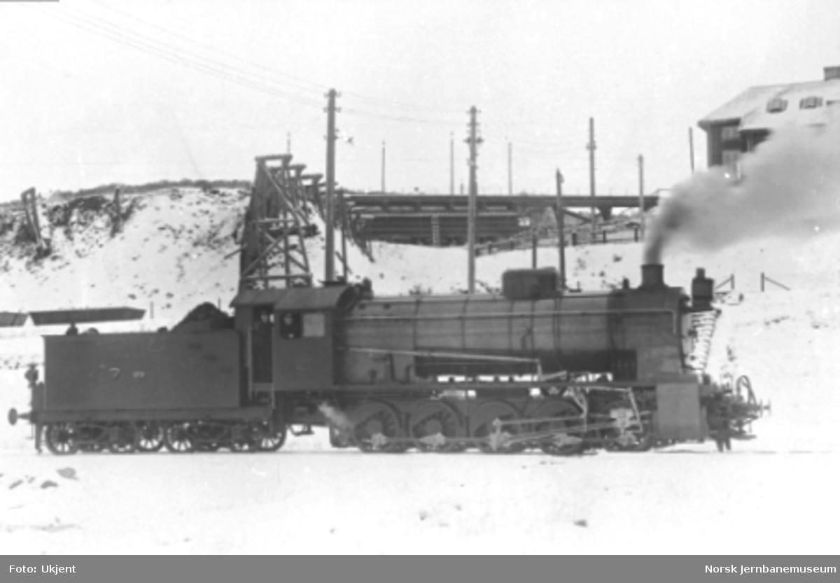 Damplokomotiv type 29a nr. 170 i Narvik