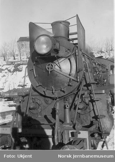 Røykskjermer på damplokomotiv nr. 411