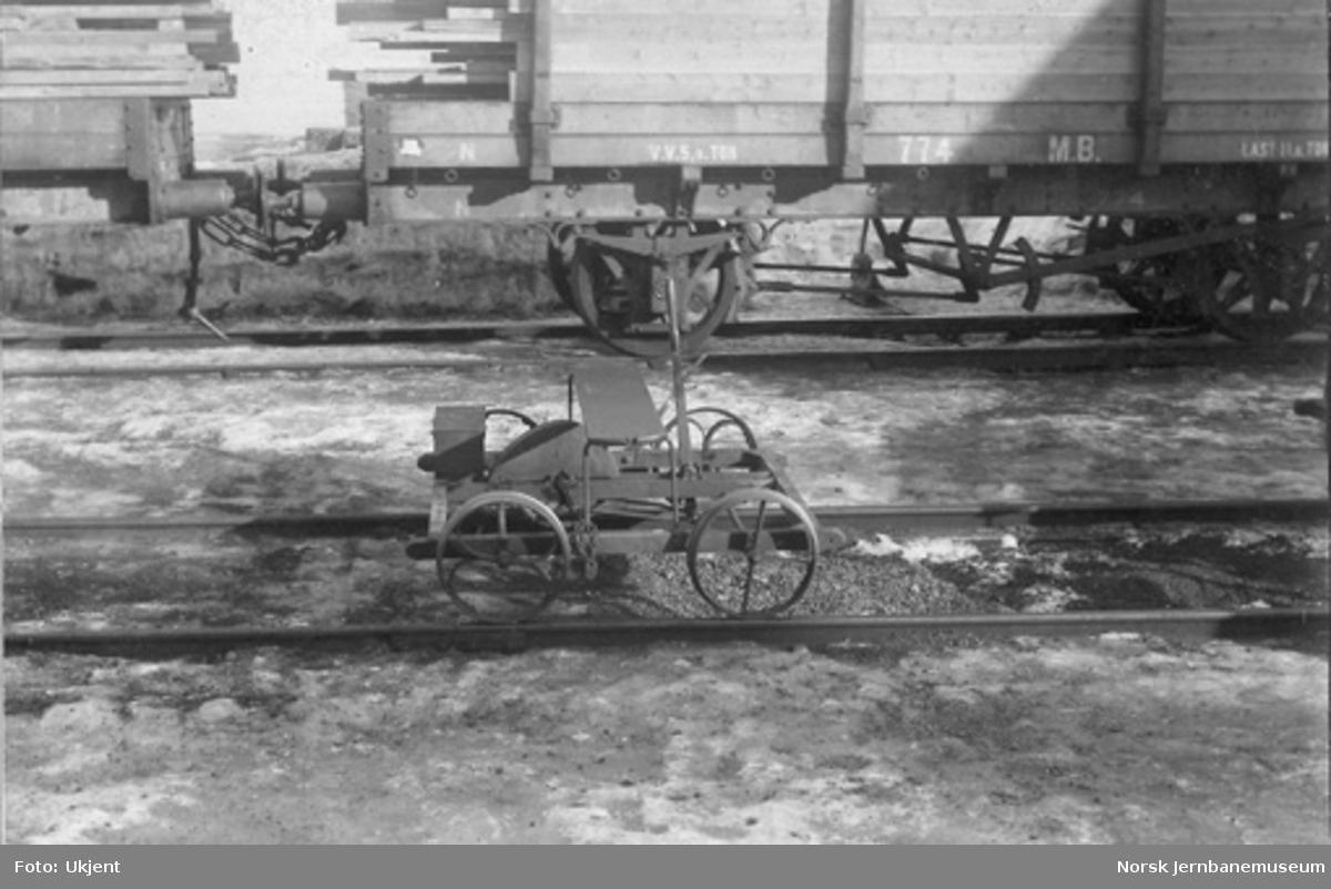 Firehjuls håndtralle
