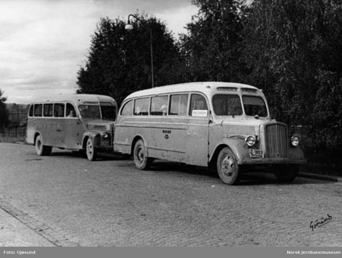 NSB Lågendalsrutens busser Z-1803 Opel Blitz og Z-1809 Ford