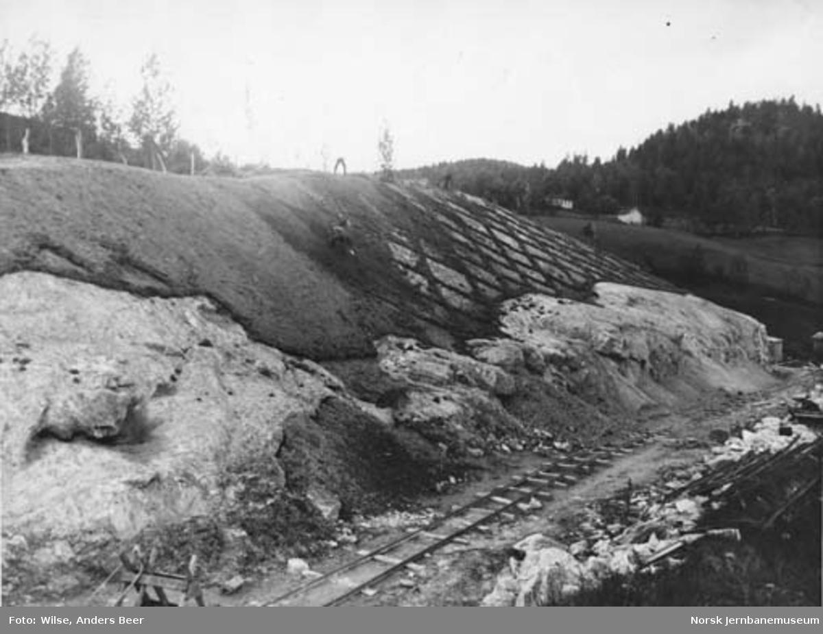 Nordlandsbaneanlegget : matjordpålegging ved Tømmerdal