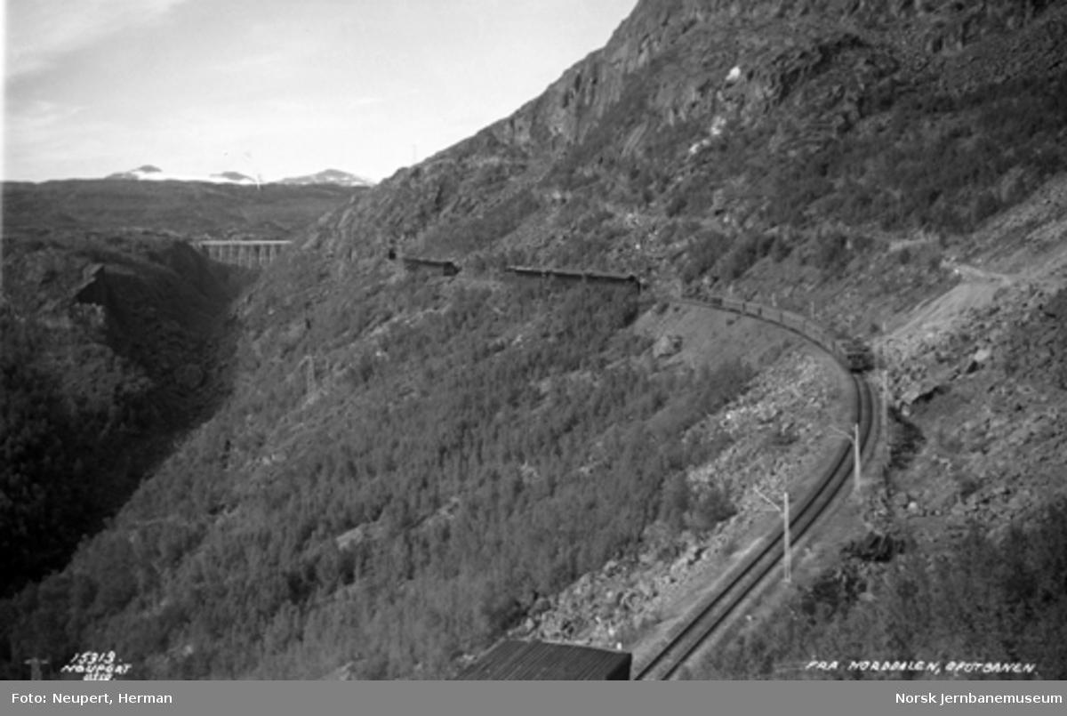 Persontog i Norddalen med Norddalbrua i bakgrunnen