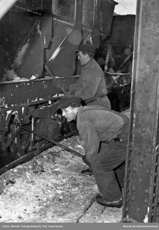 Ofotbanen : lossing av malmvogner ved gamle malmkai