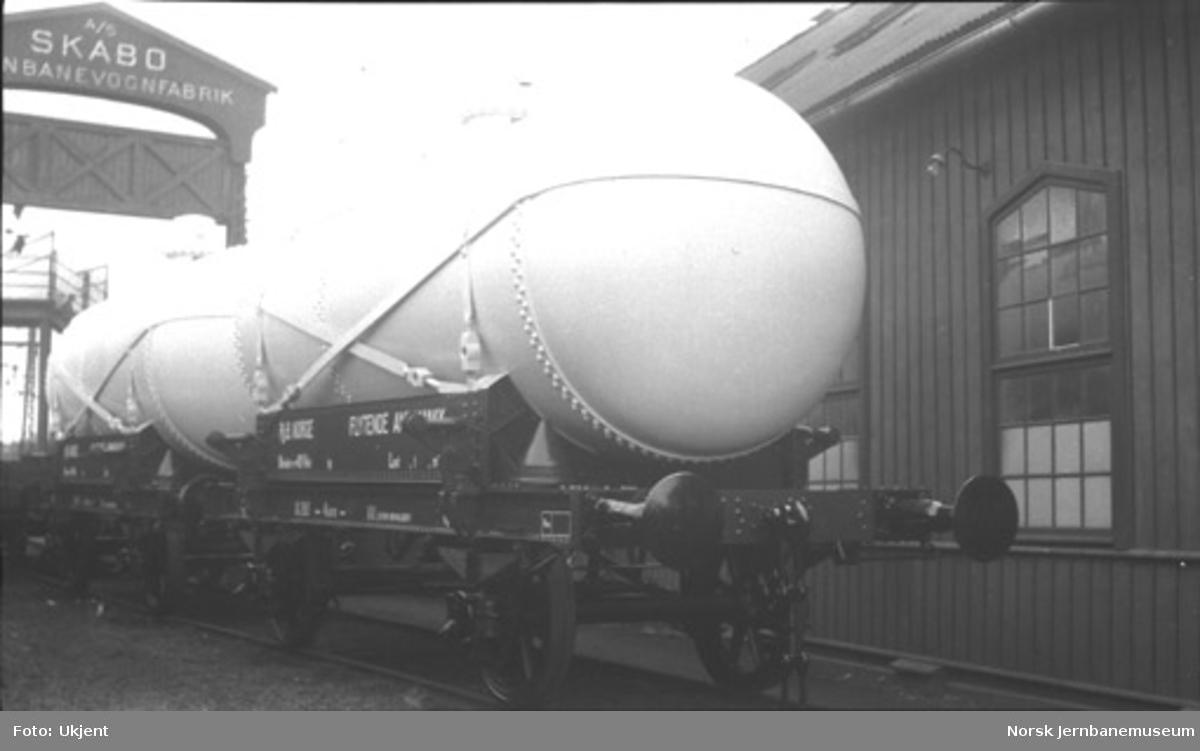Tankvogn litra Q nr. 293 bygget til Rjukanbanen