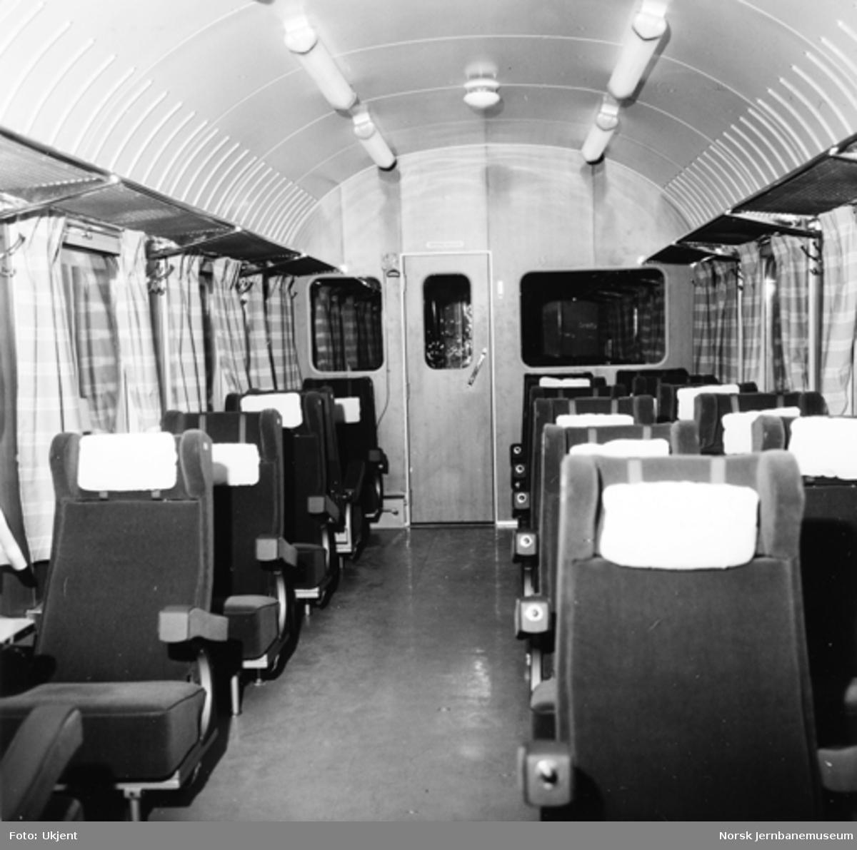 NSB personvogn litra A2 : interiørbilder