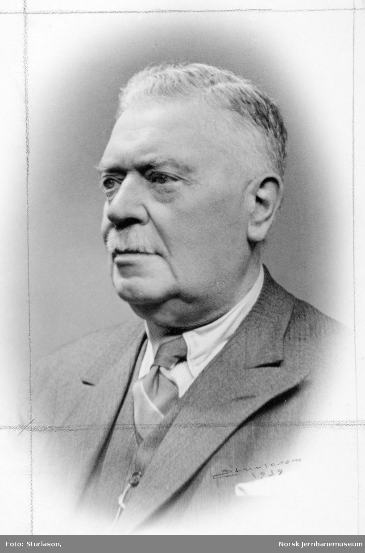 Portrett av banedirektør Otto Aubert