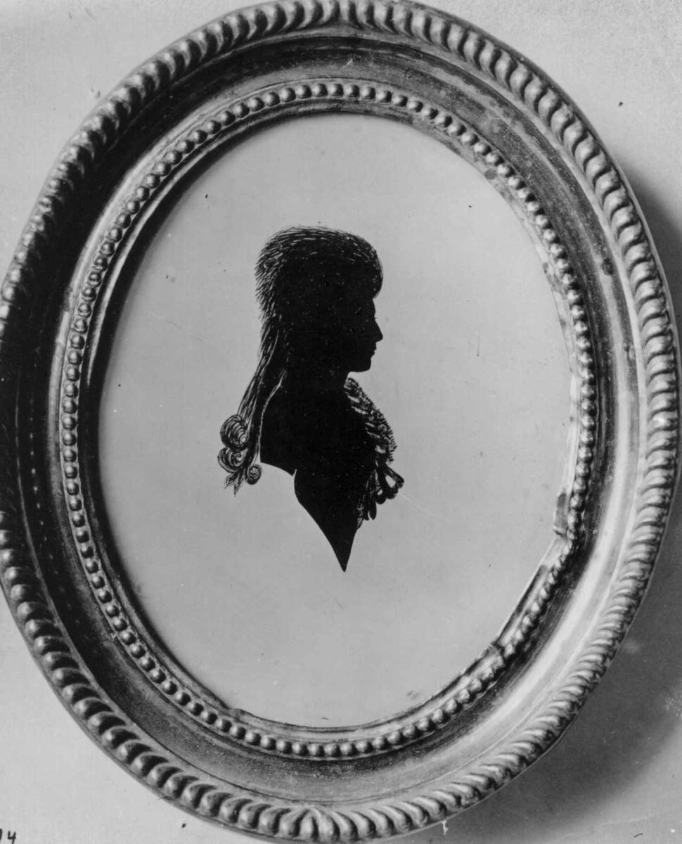 Dameportrett, ukjent, silhouett