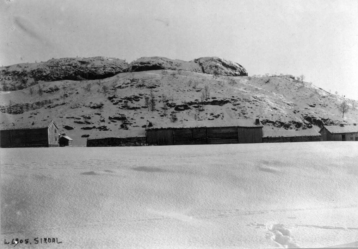 """Bildet viser gnr. 3, Fidjeland, bnr. 5, """"Der borte"""", Sirdal, Vest-Agder."""