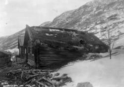 Stue fra Nedre-Jordet i Hol, før flytting til Norsk Folkemus