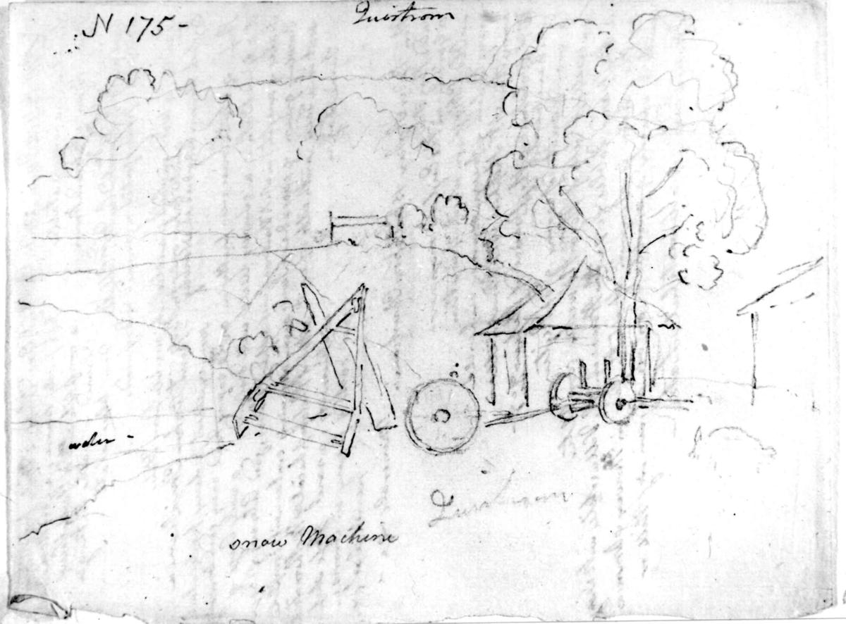 """BåhuslenFra skissealbum av John W. Edy, """"Drawings Norway 1800""""."""