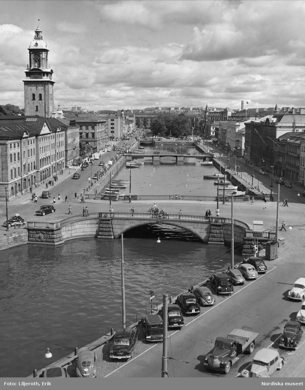 Göteborg. Vy över Stora hamnkanalen, 1952.