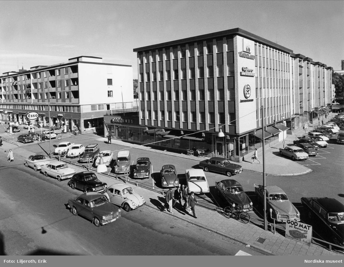 Affärskvarter vid Trotzgatan Falun
